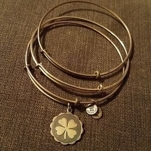 Alex and Ani Shamrock Bangles